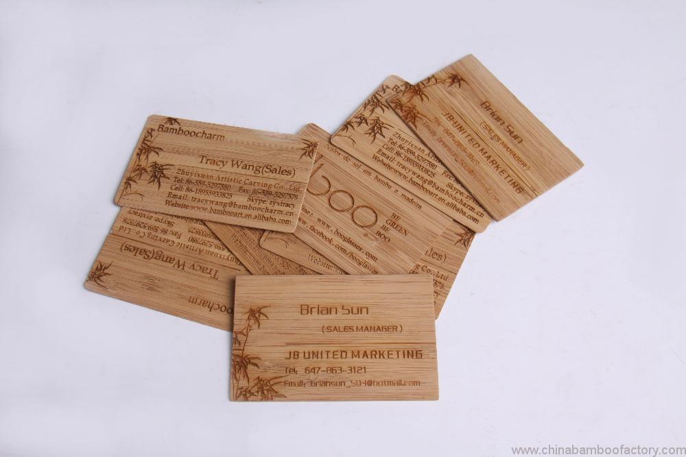 Bambus Holz Lasercut Gravierte Visitenkarte